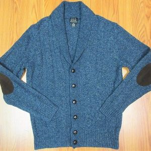 JOS. A. BANK Mens WOOL CABLE KNIT CARDIGAN